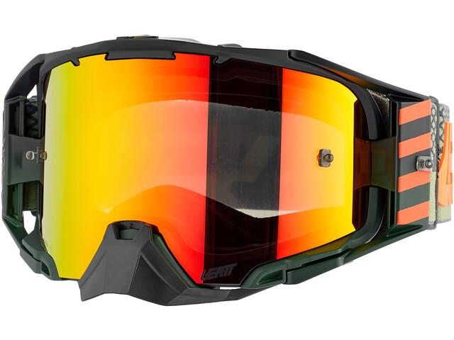 Leatt Velocity 6.5 Iriz Anti Fog Mirror Goggles, rojo/negro